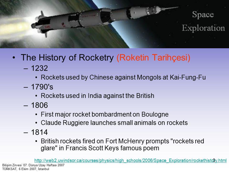 4 1950'ler: roketler, radar, bilgisayar.