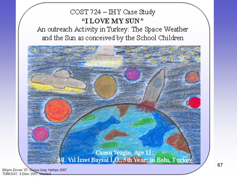 67 Bilişim Zirvesi '07: Dünya Uzay Haftası 2007 TÜRKSAT, 6 Ekim 2007, İstanbul