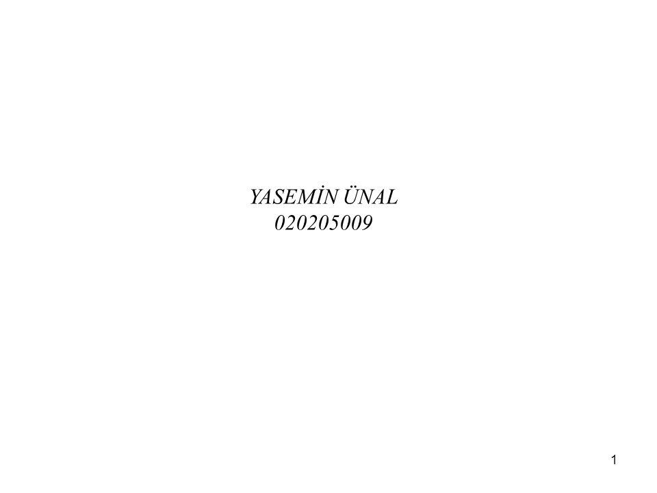 1 YASEMİN ÜNAL 020205009