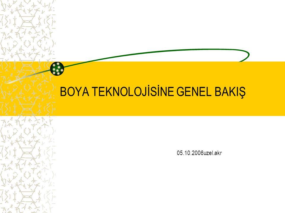 BOYA TEKNOLOJİSİNE GENEL BAKIŞ 05.10.2006uzel.akr