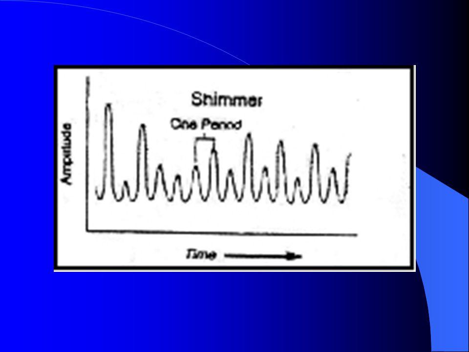 Fo ın standart deviasyonu(stdev fo): Özellikle nörolojik hastalık sonucunda motor kontrolü bozulan larenkste, fuluktuasyon gösteren ses perdesine sahip hastalarda stdev Fo artış gösterir.
