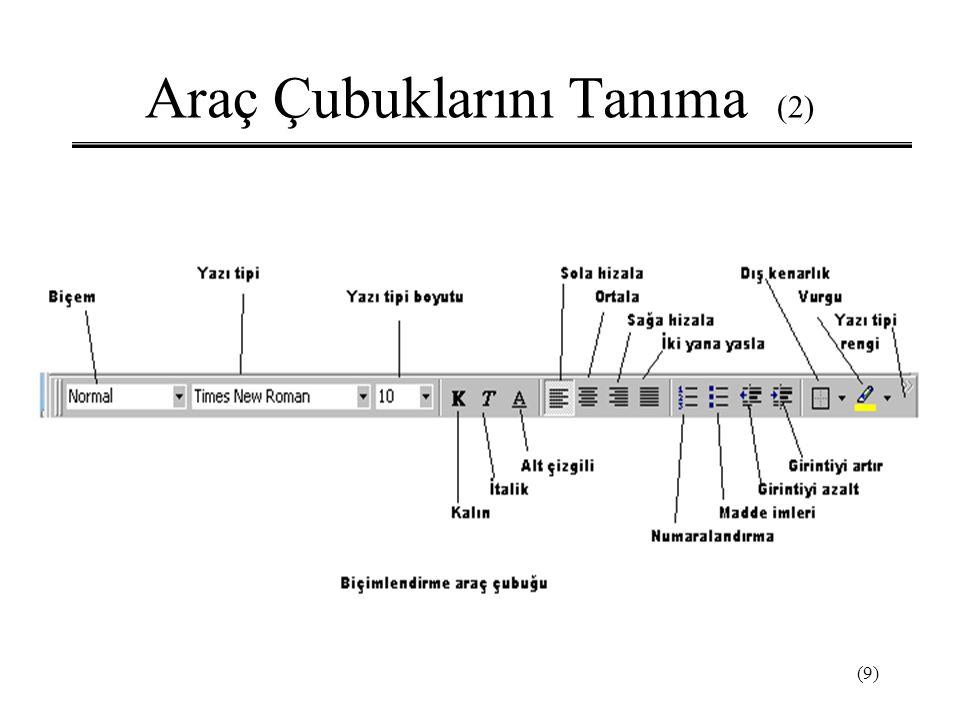 (9) Araç Çubuklarını Tanıma (2)