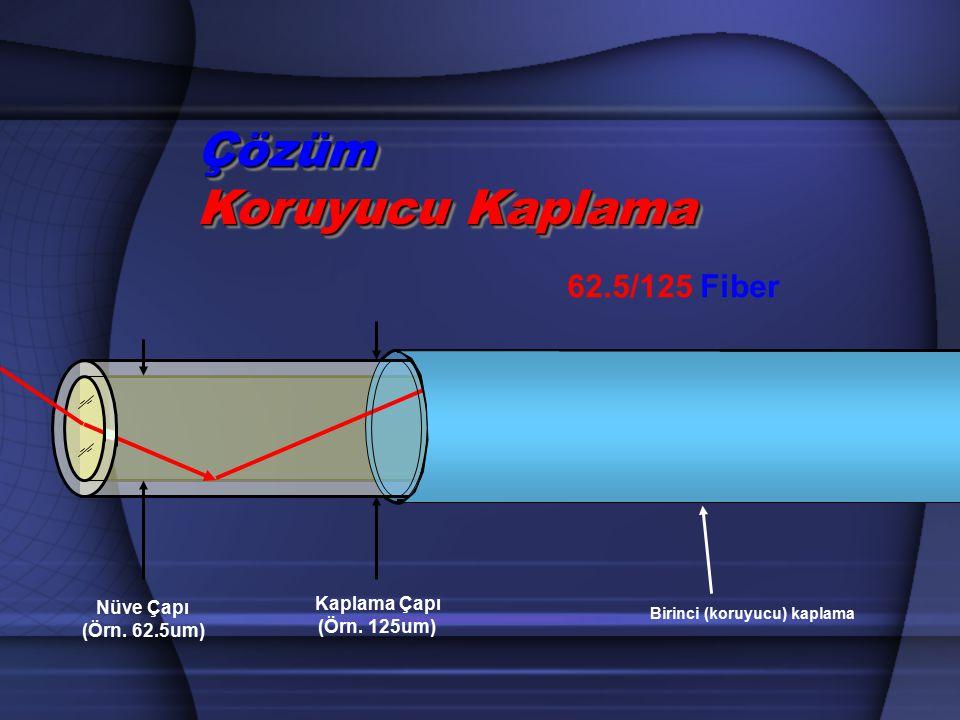 Çözüm Koruyucu Kaplama Nüve Çapı (Örn. 62.5um) Kaplama Çapı (Örn. 125um) 62.5/125 Fiber Birinci (koruyucu) kaplama