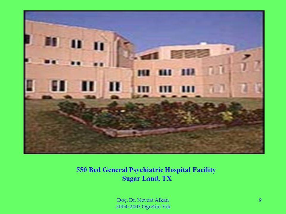 Doç. Dr. Nevzat Alkan 2004-2005 Ogretim Yılı 9 550 Bed General Psychiatric Hospital Facility Sugar Land, TX