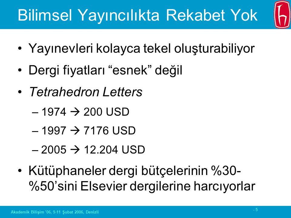 - 66 Akademik Bilişim '06, 9-11 Şubat 2006, Denizli Yaşar Tonta Hacettepe Üniversitesi Bilgi ve Belge Yönetimi Bölümü tonta@hacettepe.edu.tr Açık Erişim ve Kurumsal Arşivler: Hacettepe Açık Arşiv Uygulaması
