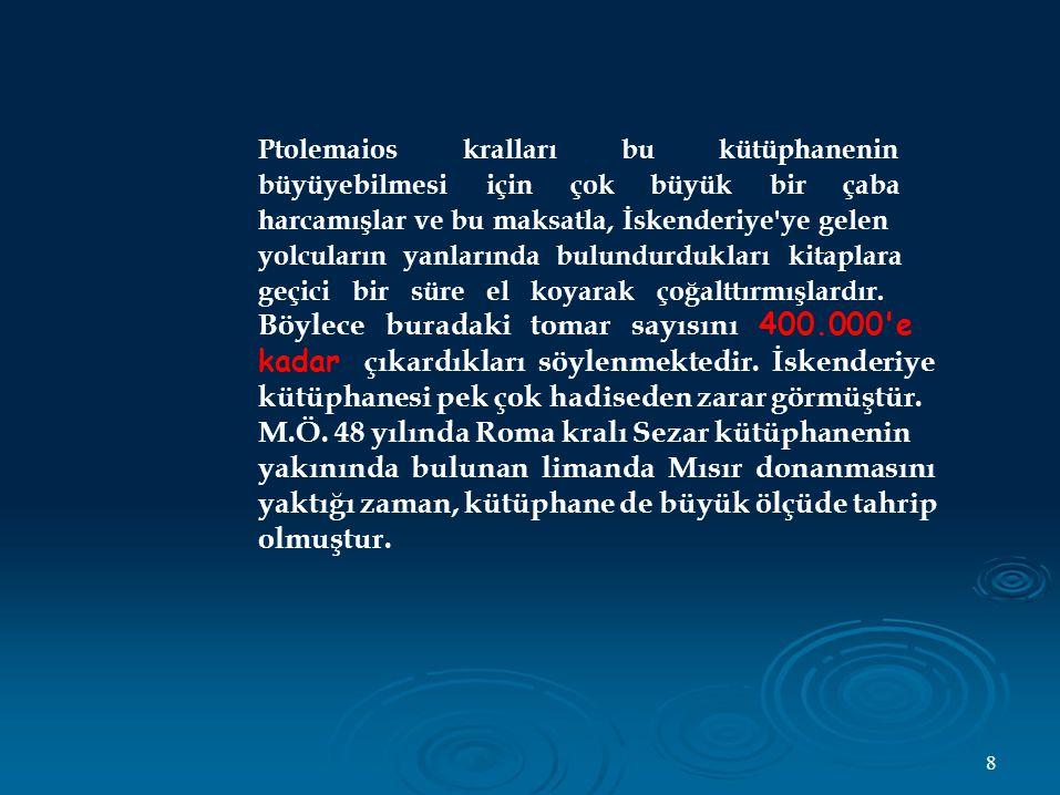 Ctesibios un en önemli icatları arasında basma tulumba, su orgu ve su saati bulunmaktadır.