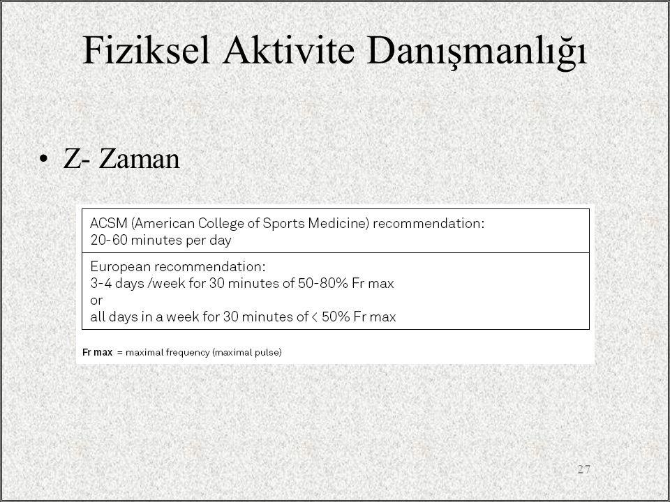 Fiziksel Aktivite Danışmanlığı Z- Zaman 27