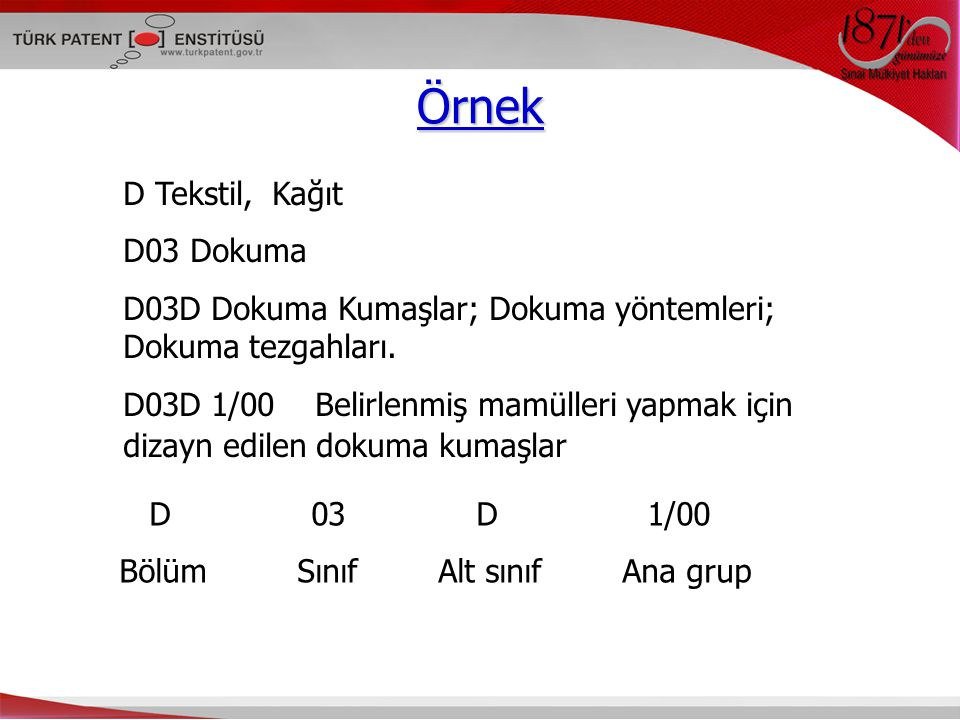 Örnek D Tekstil, Kağıt D03 Dokuma D03D Dokuma Kumaşlar; Dokuma yöntemleri; Dokuma tezgahları.