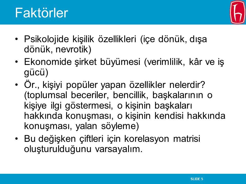 SLIDE 46 Faktör Analizi Yaşar Tonta H.Ü.