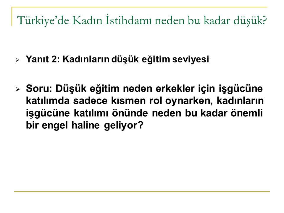 Türkiye'de Kadın İstihdamı neden bu kadar düşük.