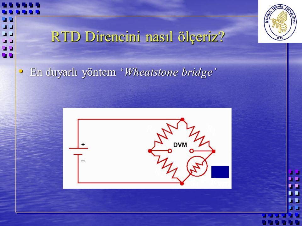 RTD Direncini nasıl ölçeriz. RTD Direncini nasıl ölçeriz.