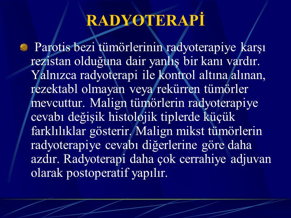 Kimi özel durumlarda preoperatif radyoterapi de uygulanabilir.