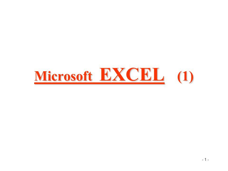 - 1 - Microsoft EXCEL (1)