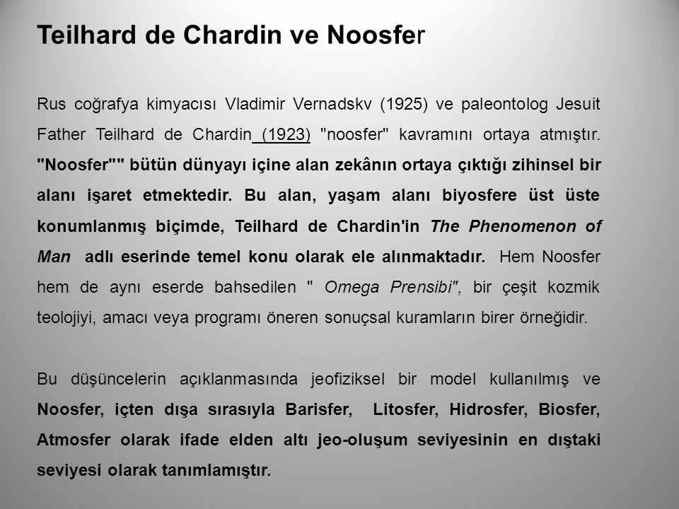 Teilhard de Chardin ve Noosfer Rus coğrafya kimyacısı Vladimir Vernadskv (1925) ve paleontolog Jesuit Father Teilhard de Chardin (1923)