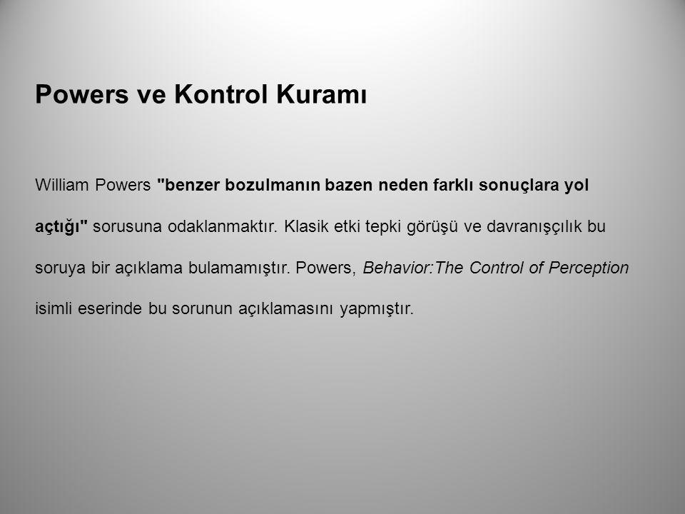 Powers ve Kontrol Kuramı William Powers