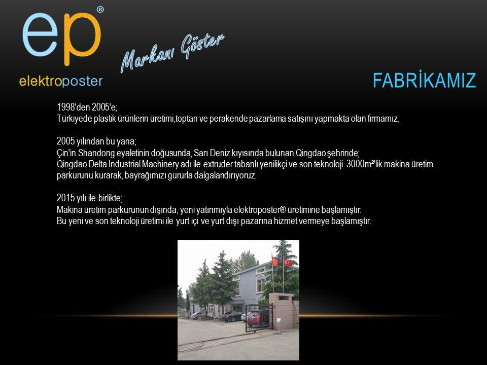 FABRİKAMIZ 1998'den 2005'e; Türkiyede plastik ürünlerin üretimi,toptan ve perakende pazarlama satışını yapmakta olan firmamız, 2005 yılından bu yana;