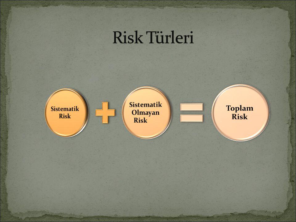 Standart sapma ya da varyans riskin ölçülmesinde kullanılır.