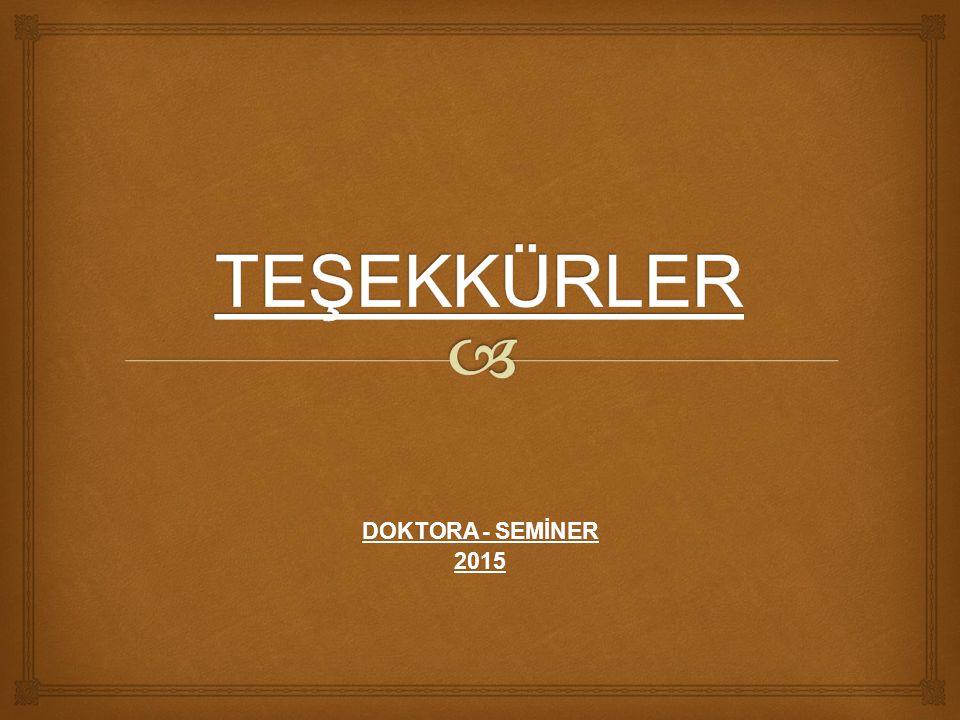 DOKTORA - SEMİNER 2015