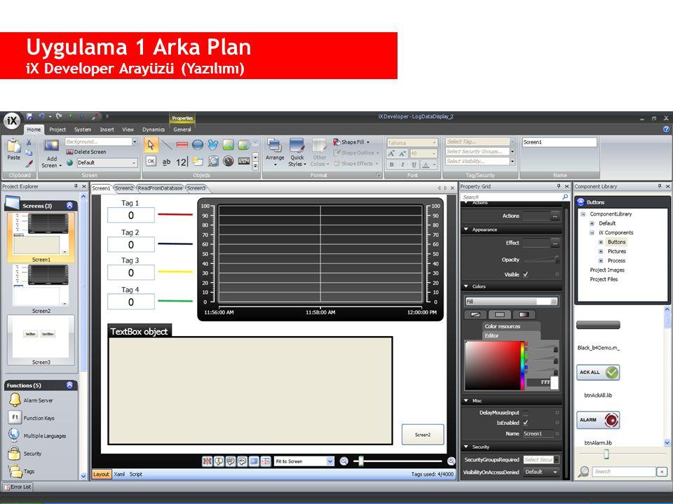 Uygulama 1 Arka Plan Project Explorer