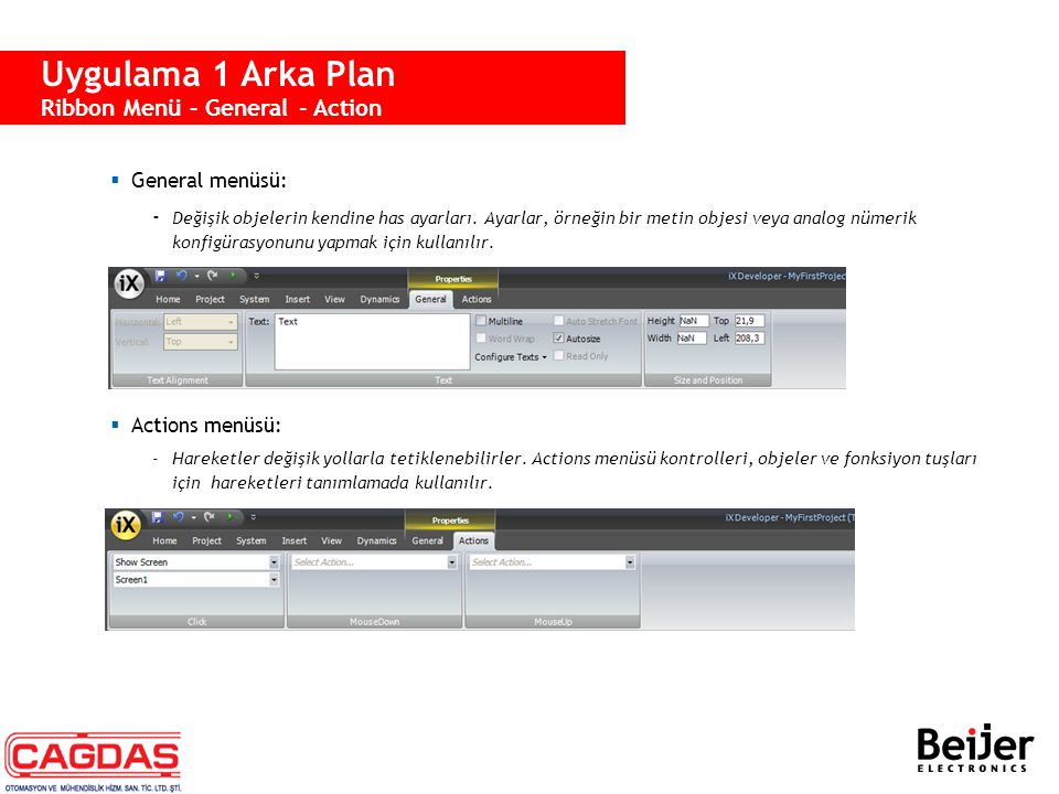 Uygulama 1 Arka Plan Property Grid
