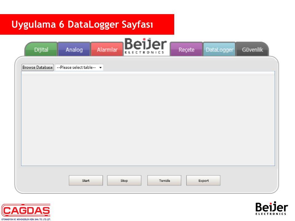Uygulama 6 DataLogger Sayfası