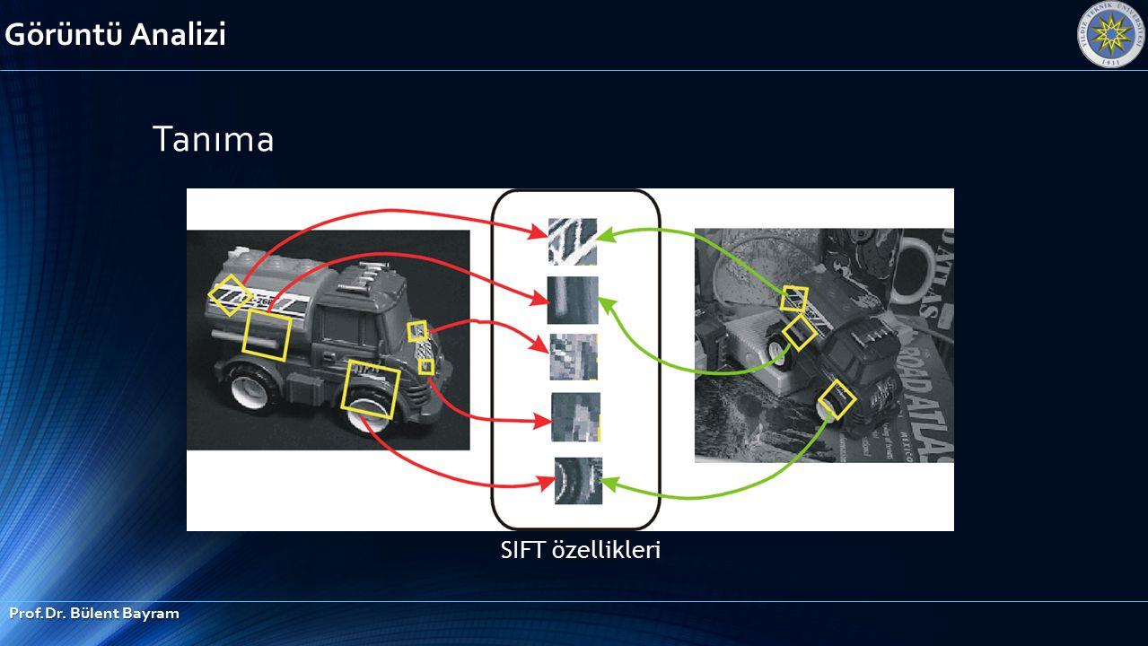 Tanıma SIFT özellikleri Görüntü Analizi Prof.Dr. Bülent Bayram
