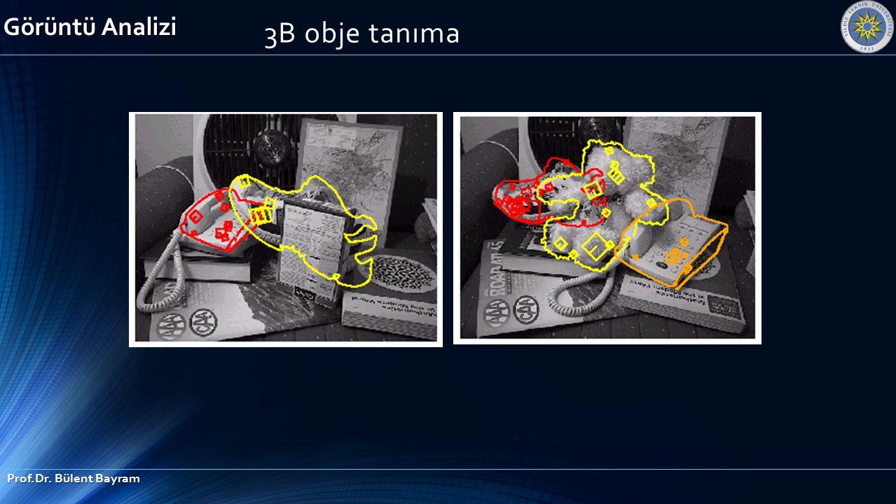 Görüntü Analizi Prof.Dr. Bülent Bayram 3B obje tanıma