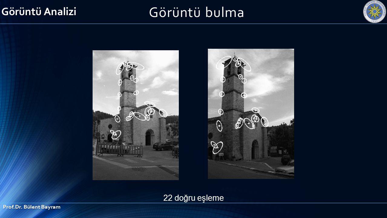 22 doğru eşleme Görüntü Analizi Prof.Dr. Bülent Bayram Görüntü bulma