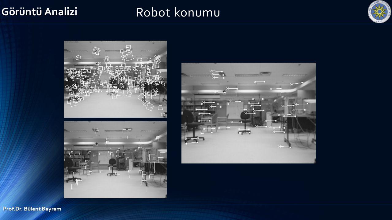 Robot konumu Görüntü Analizi Prof.Dr. Bülent Bayram