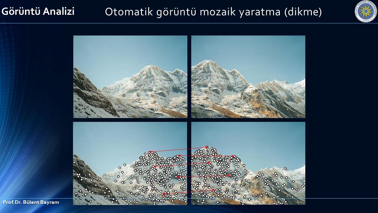 Otomatik görüntü mozaik yaratma (dikme) Görüntü Analizi Prof.Dr. Bülent Bayram