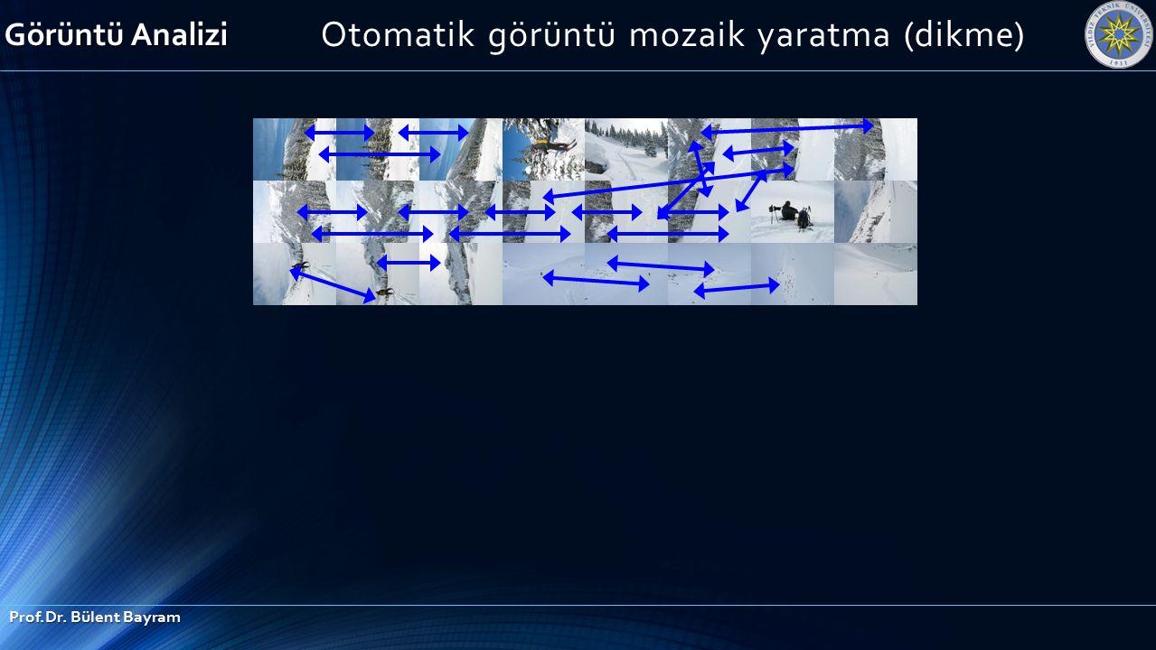 Görüntü Analizi Prof.Dr. Bülent Bayram Otomatik görüntü mozaik yaratma (dikme)