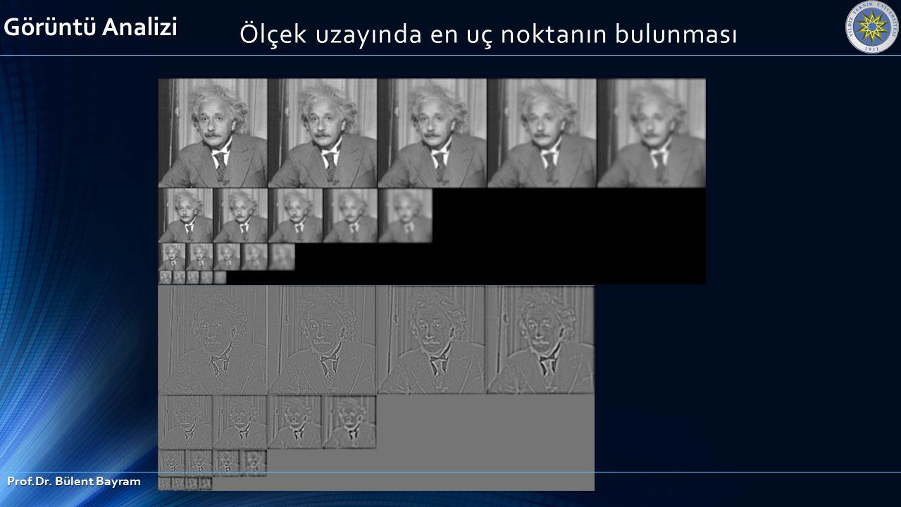 Ölçek uzayında en uç noktanın bulunması Görüntü Analizi Prof.Dr. Bülent Bayram