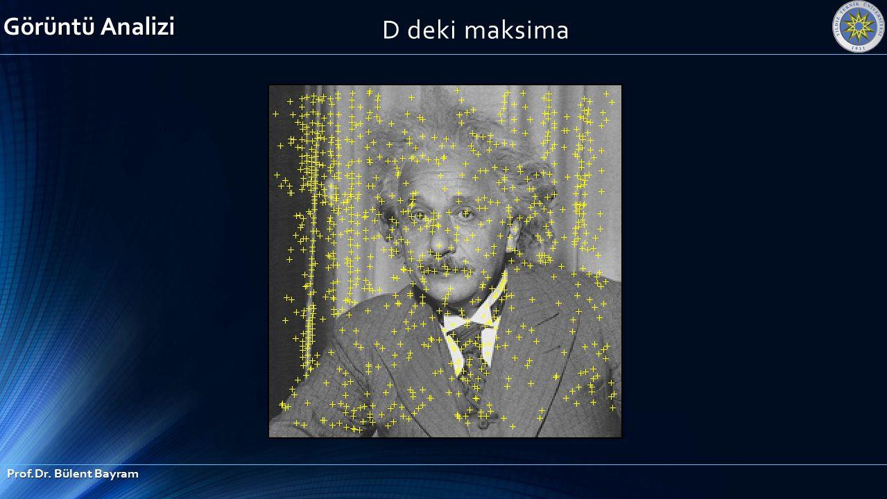 D deki maksima Görüntü Analizi Prof.Dr. Bülent Bayram