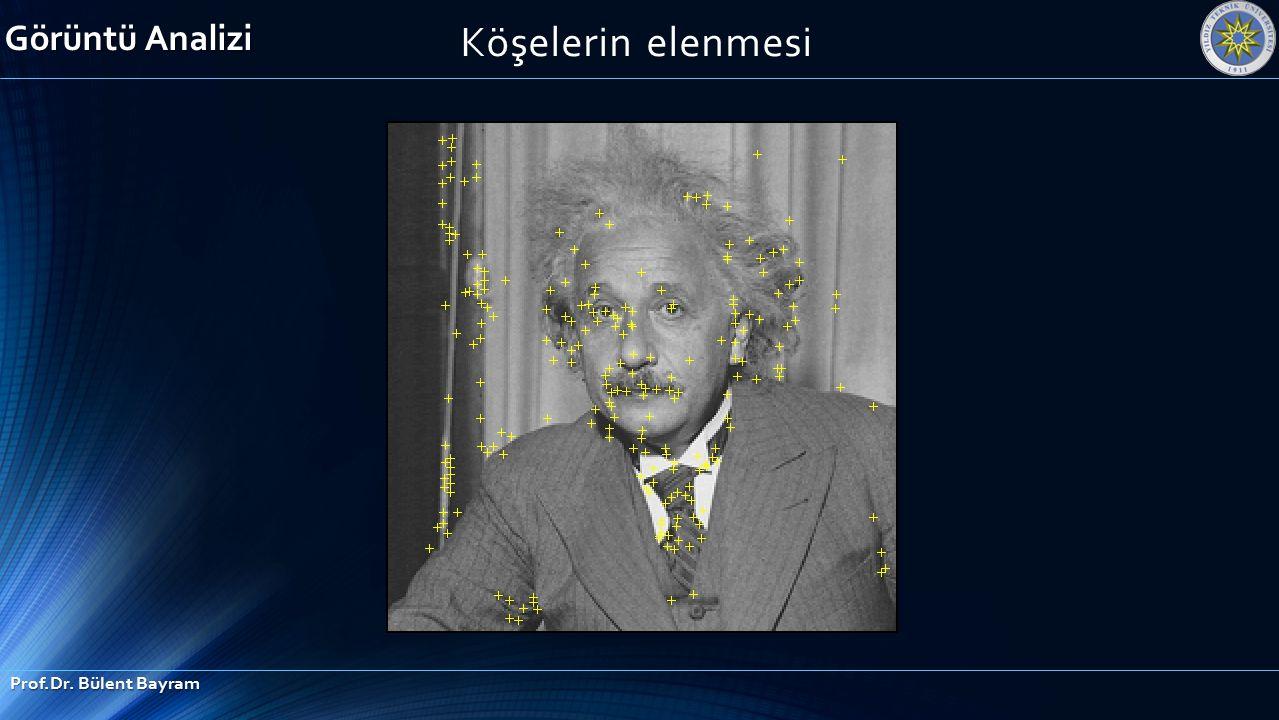 Köşelerin elenmesi Görüntü Analizi Prof.Dr. Bülent Bayram