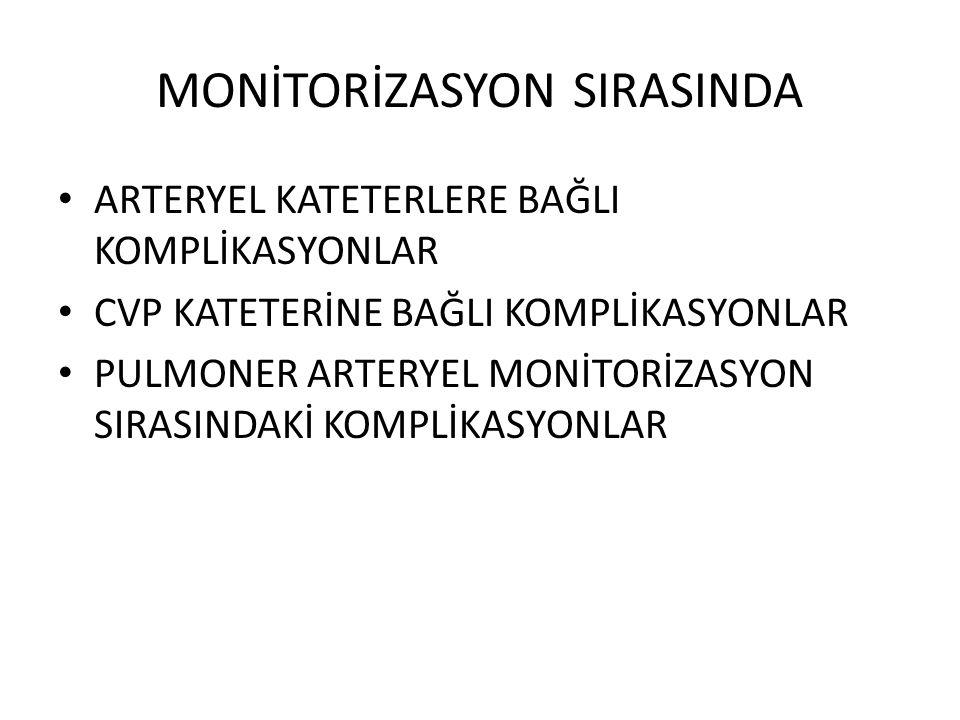 ANESTEZİ VE MONİTORİZASYON 1.İNVAZİF MONİTORİZASYON SIRASINDA 2.HAVAYOLU 3.ANESTEZİK AJANLAR 4.ALLERJİK REAKSİYONLAR