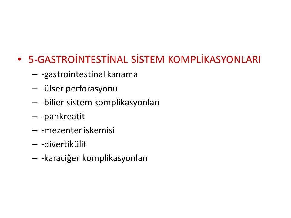 3-BÖBREK KOMPLİKASYONLARI – -akut böbrek yetmezliği – -kronik böbrek yetmezliğine bağlı komplikasyonlar 4-PERİFERİK DAMAR KOMPLİKASYONLARI