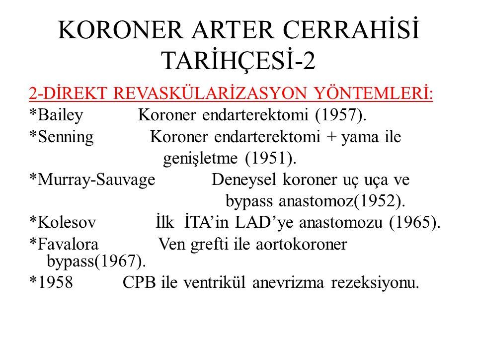 KORONER ARTER CERRAHİSİ TARİHÇESİ-1 1-İNDİREKT REVASKÜLARİZASYON YÖNTEMLERİ: *Ionnescu Servikotorasik sempatektomi(1916). *Levin-Berlin Tiroidektomi (