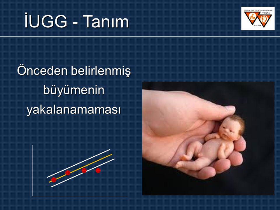 4 hf ara: fetal büyüme 1-2 hf ara: UA ve MCA Doppler UA / MCA Doppler UA / MCA Normal 1-2 hf sonra Doppler Normal Normal 39.haftada doğum İUGG Normal Normal