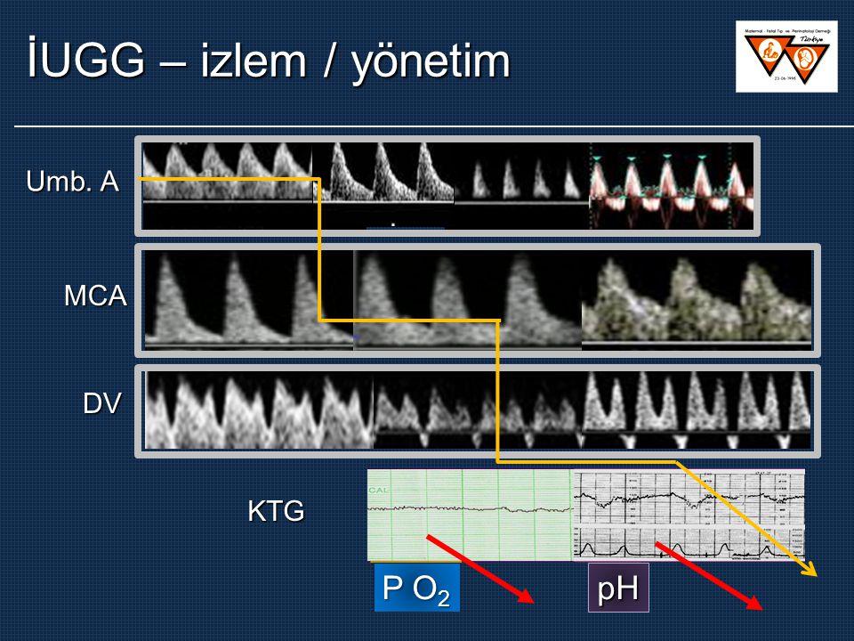 Umb. A MCA DV KTG P O 2 pH İUGG – izlem / yönetim