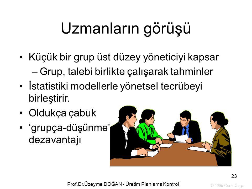 Küçük bir grup üst düzey yöneticiyi kapsar –Grup, talebi birlikte çalışarak tahminler İstatistiki modellerle yönetsel tecrübeyi birleştirir. Oldukça ç