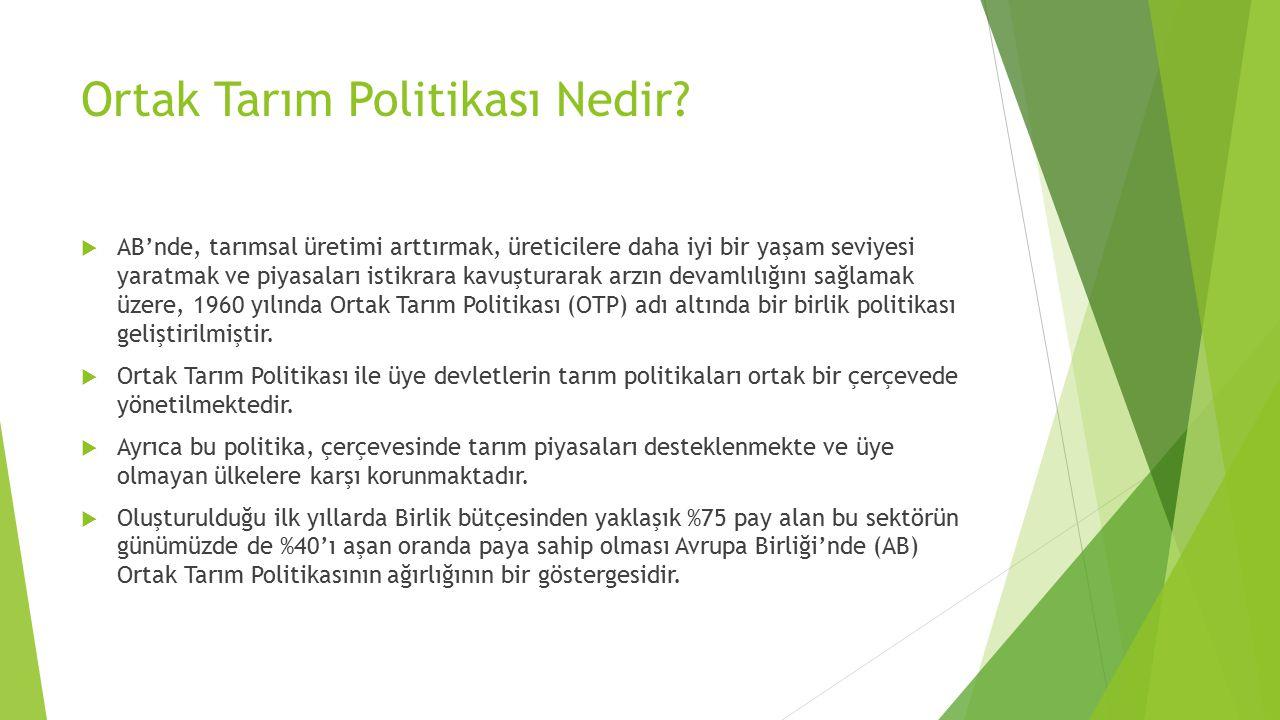 NEDEN ORTAK TARIM POLİTİKASI.