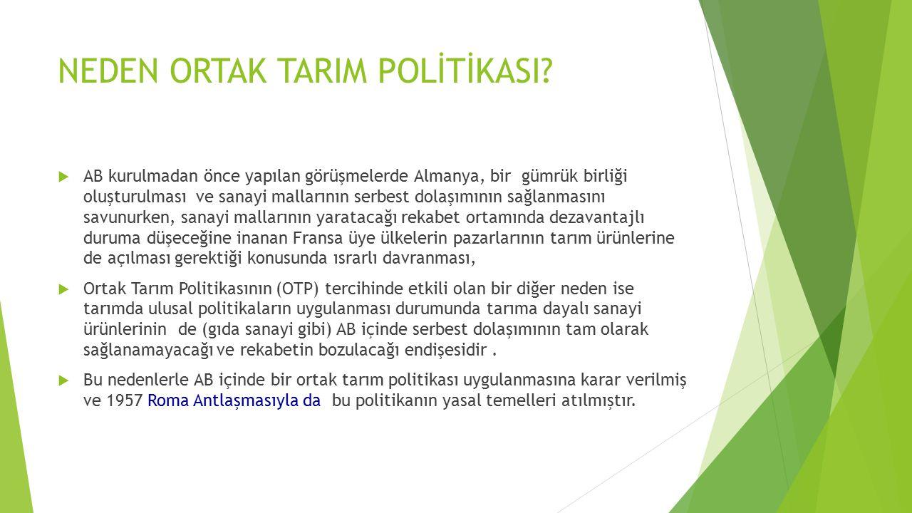 ORTAK TARIM POLİTİKASINDA REFORMLAR  2003 reformu:  OTP'nin dönüşüm süreci 2000'li yıllarda da devam etmiş, 2003 reformu destekleme politikalarında önemli değişiklikler getirmiştir.
