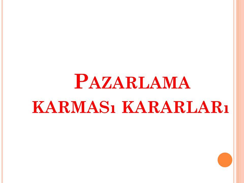 P AZARLAMA KARMASı KARARLARı