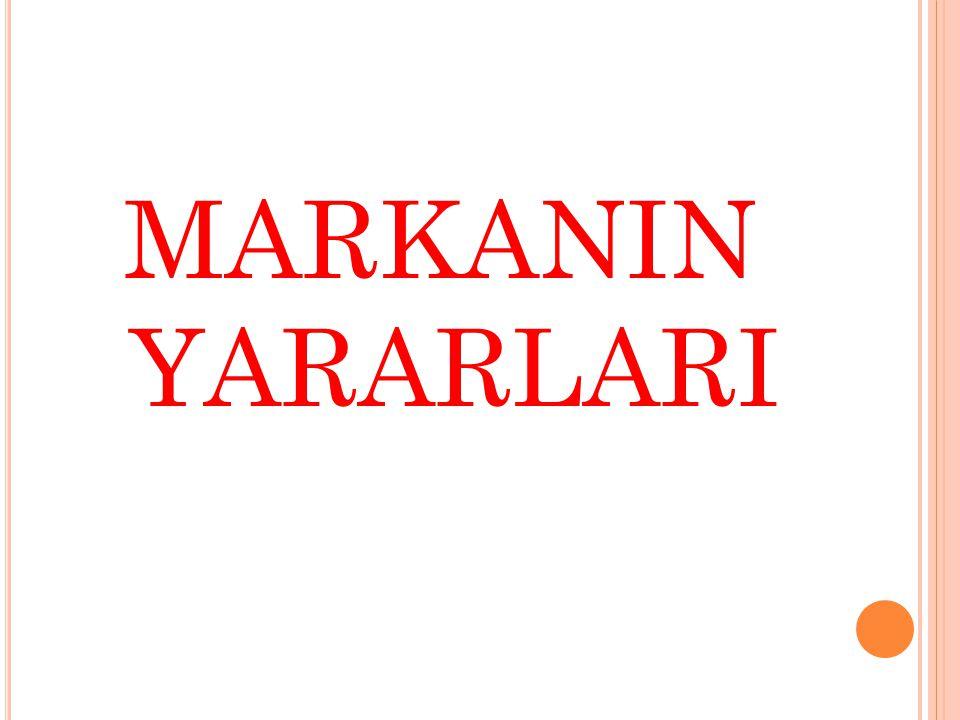 MARKANIN YARARLARI