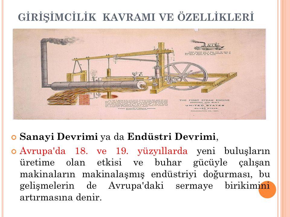 Sanayi Devrimi ya da Endüstri Devrimi, Avrupa'da 18. ve 19. yüzyıllarda yeni buluşların üretime olan etkisi ve buhar gücüyle çalışan makinaların makin