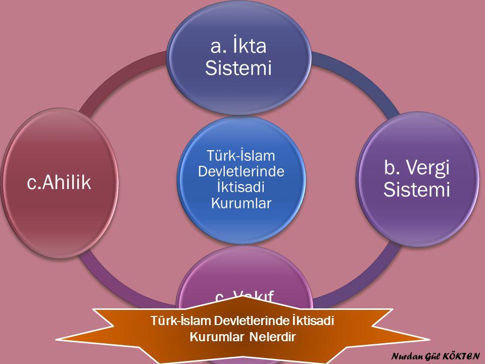 Türk-İslam Devletlerinde İktisadi Kurumlar a.İkta Sistemi b.