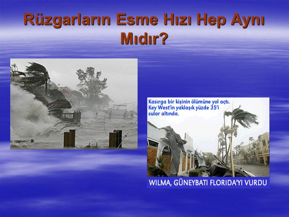 Rüzgarların Esme Hızı Hep Aynı Mıdır?