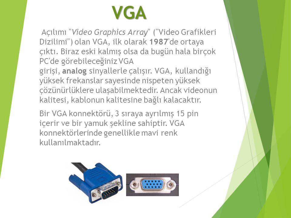 VGA Açılımı