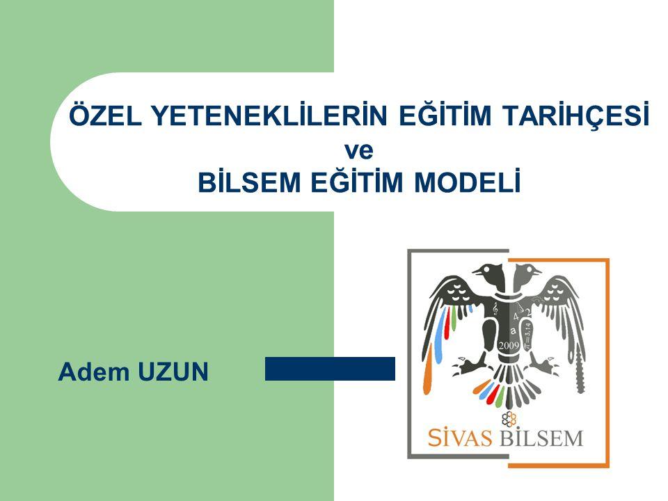 Türkiye'de Özel Yeteneklilerin Eğitimi Cumhuriyet tarihimize baktığımızda da özel yetenekli bireylerin eğitimlerine önem verildiği görülmektedir.