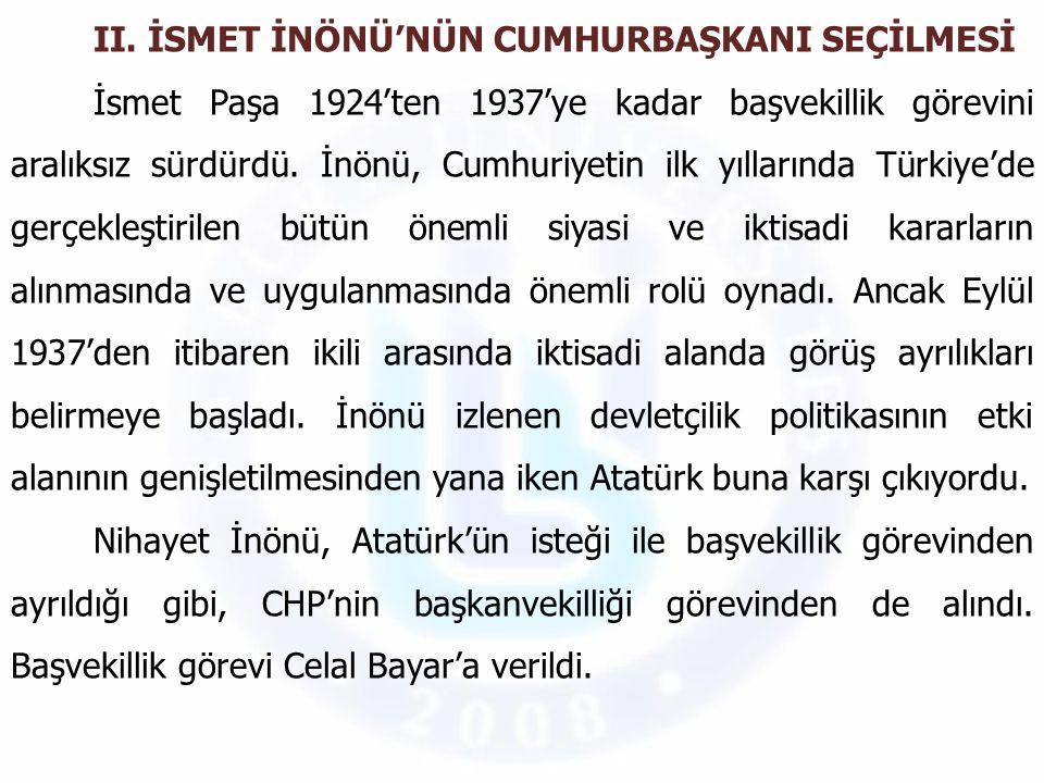 Atatürk'ün ölümünün arkasından iktidarın yeniden şekillenmesi Türkiye'nin en önemli gündemini oluşturuyordu.
